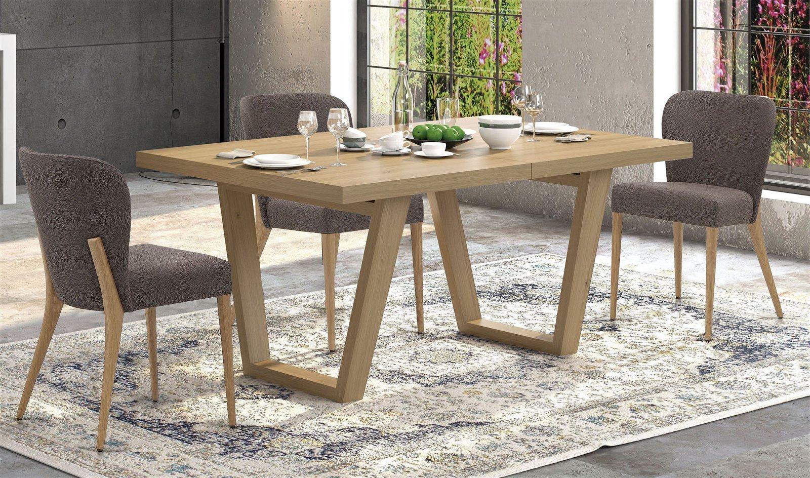 Mesa de comedor extensible nórdica Varat