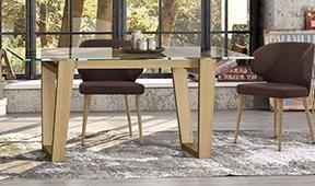 Mesa de comedor nórdica Aldora