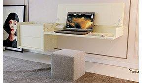 Consola 2 cajones convertible en escritorio