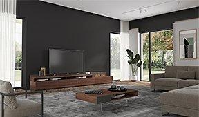 Mueble tv con chimenea eléctrica Arquitect Palermo by Bodonni