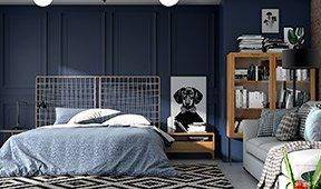 Dormitorio industrial Loft Natur III