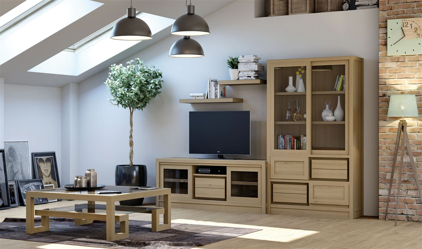 Mueble tv nórdico Newman