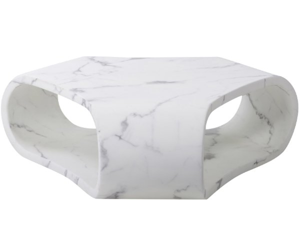 Mesa centro Karlskrona blanco mármol artificial