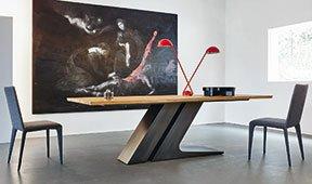 Mesa de comedor roble natural TL Bonaldo