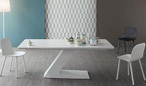 Mesa de comedor extensible cristal TL Bonaldo