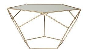 Mesa de centro dorada moderna Dodecaedro
