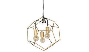 Lámpara de techo pequeña dorada Dodecaedro