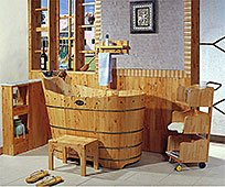 Bañera de madera Cantón
