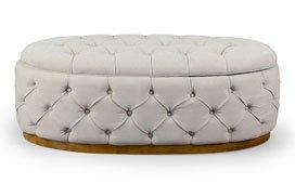 Mesa de centro baúl crussol vintage Artisan tufted