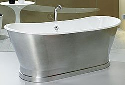 Bañera de aluminio con faldón Berlín