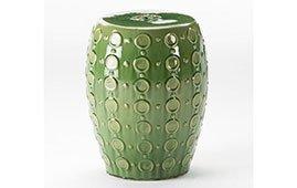 Taburete chino cerámica verde