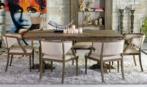 Mesa de comedor extensible vintage Bellay