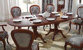 Mesa de comedor extensible clásica Loreta