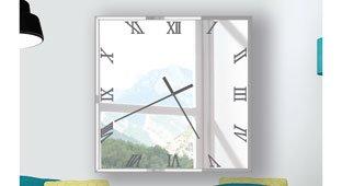 Reloj decorativo cuadrado Atril