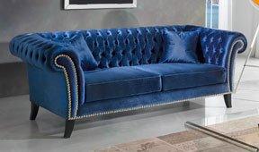 Sofá azul marino moderno Kerulen
