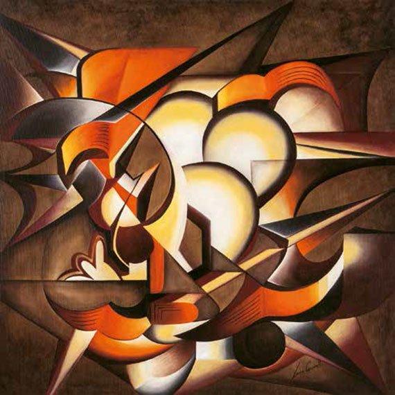 Cuadro canvas dark explosion