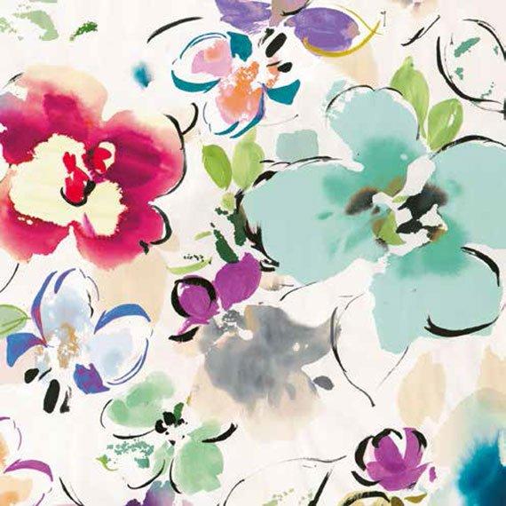 Cuadro canvas floral funk II