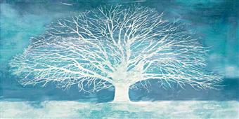 Cuadro canvas aquamarine tree