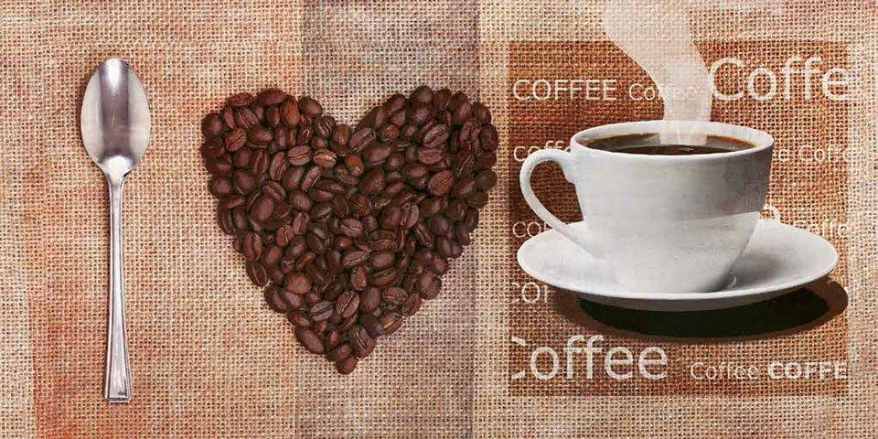 Cuadro canvas i love coffee