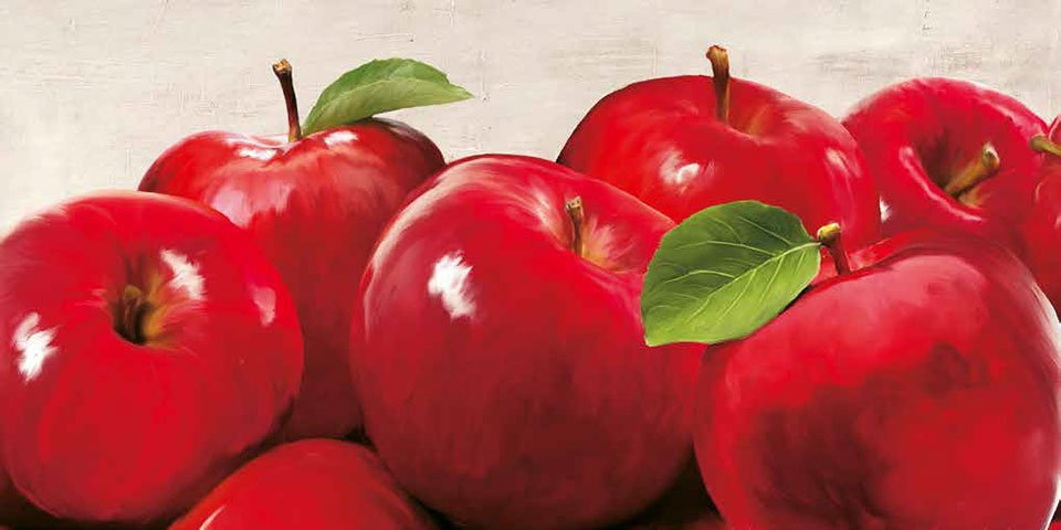 Cuadro canvas red apples
