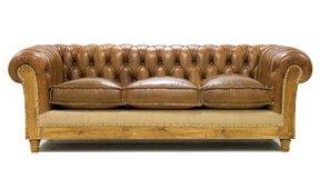 Sofá 3 plazas marrón claro chesterfield Chesire