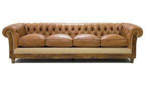 Sofá 4 plazas marrón chesterfield Chesire
