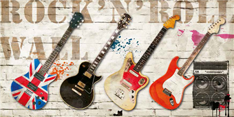 Cuadro canvas rock and roll wall