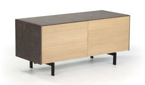 Mueble tv 1 puerta nórdico cemento