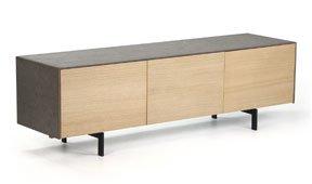 Mueble tv 2 puerta nórdico cemento
