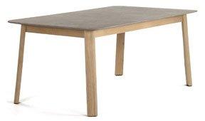 Mesa de comedor nórdica cemento