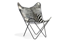 Silla piel natural BKF Zebra Cow