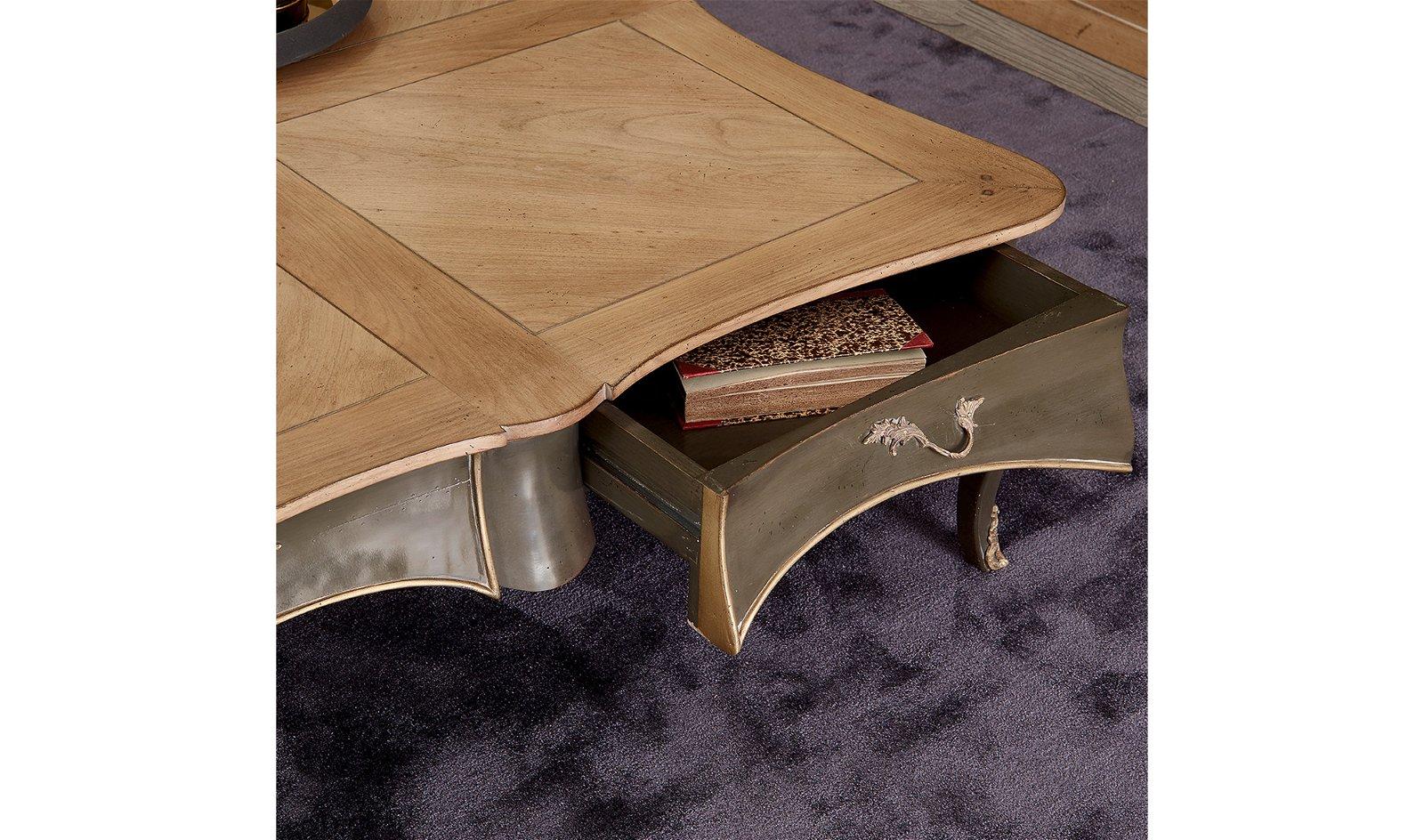 Mesa de centro 4 cajones vintage Saona