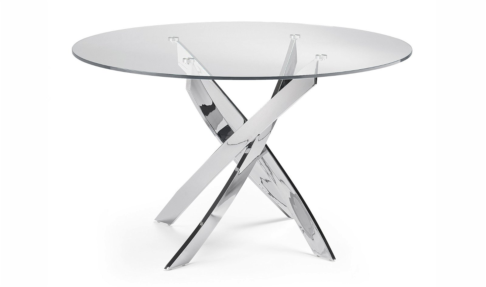 Mesa de comedor redonda cristal Xenon