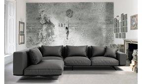 Sofá con chaise longue moderno Florencia