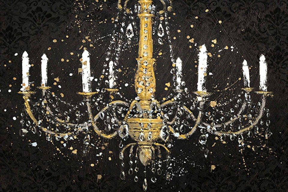 Cuadro canvas grand chandelier black
