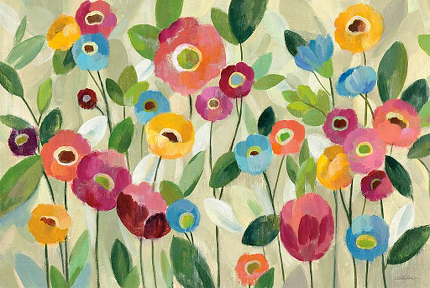Cuadro canvas fairy tale flowers