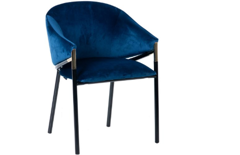 Silla Velvet Atlanta azul