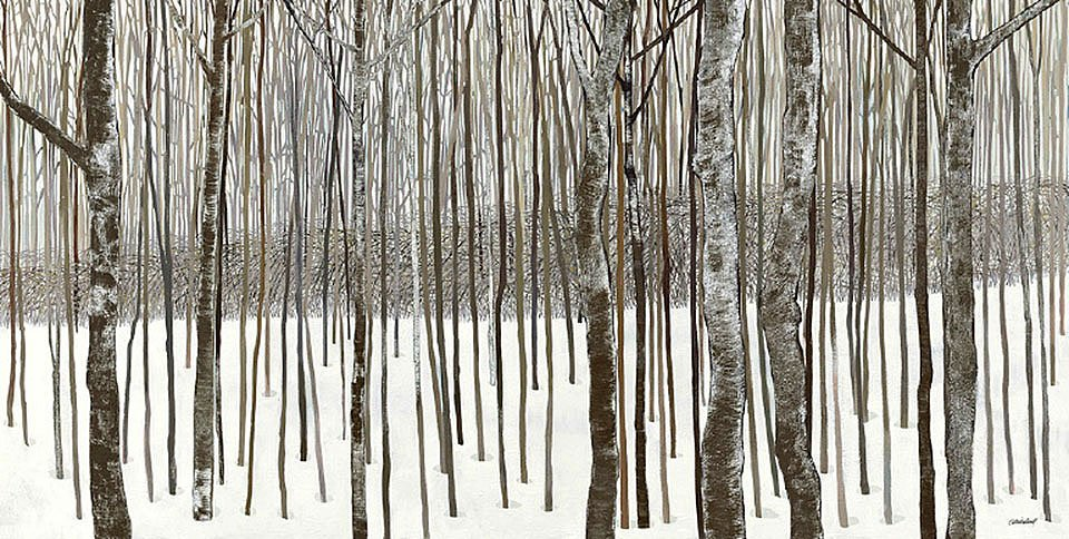 Cuadro canvas woods in  winter