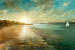 Cuadro canvas coastal glow