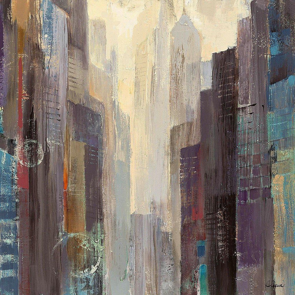 Cuadro canvas ciudad en el amanecer