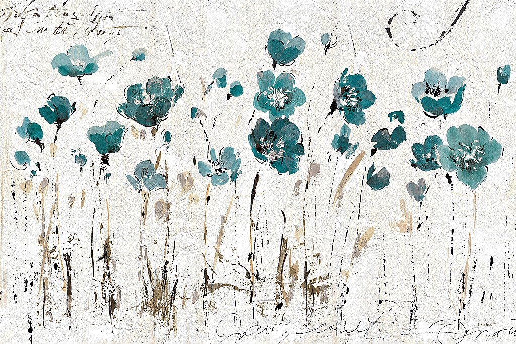 Cuadro canvas abstrac balance blue