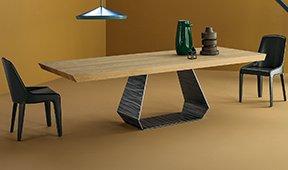 Mesa de comedor roble natural Amond Bonaldo