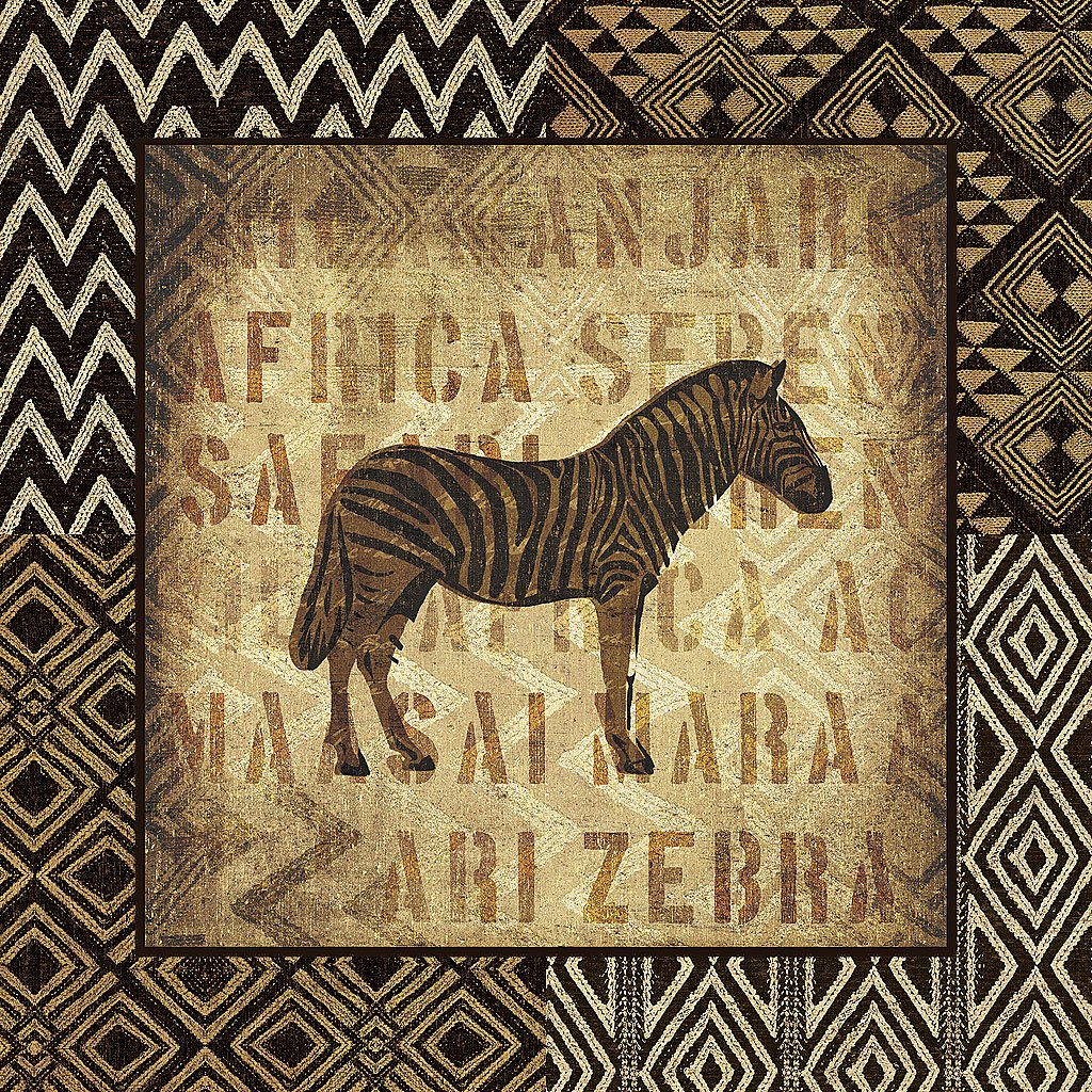 Cuadro canvas african wild zebra