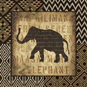 Cuadro canvas african wild elephant
