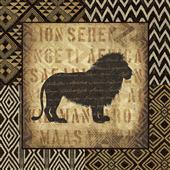Cuadro canvas african wild lion