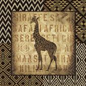 Cuadro canvas african wild giraffe