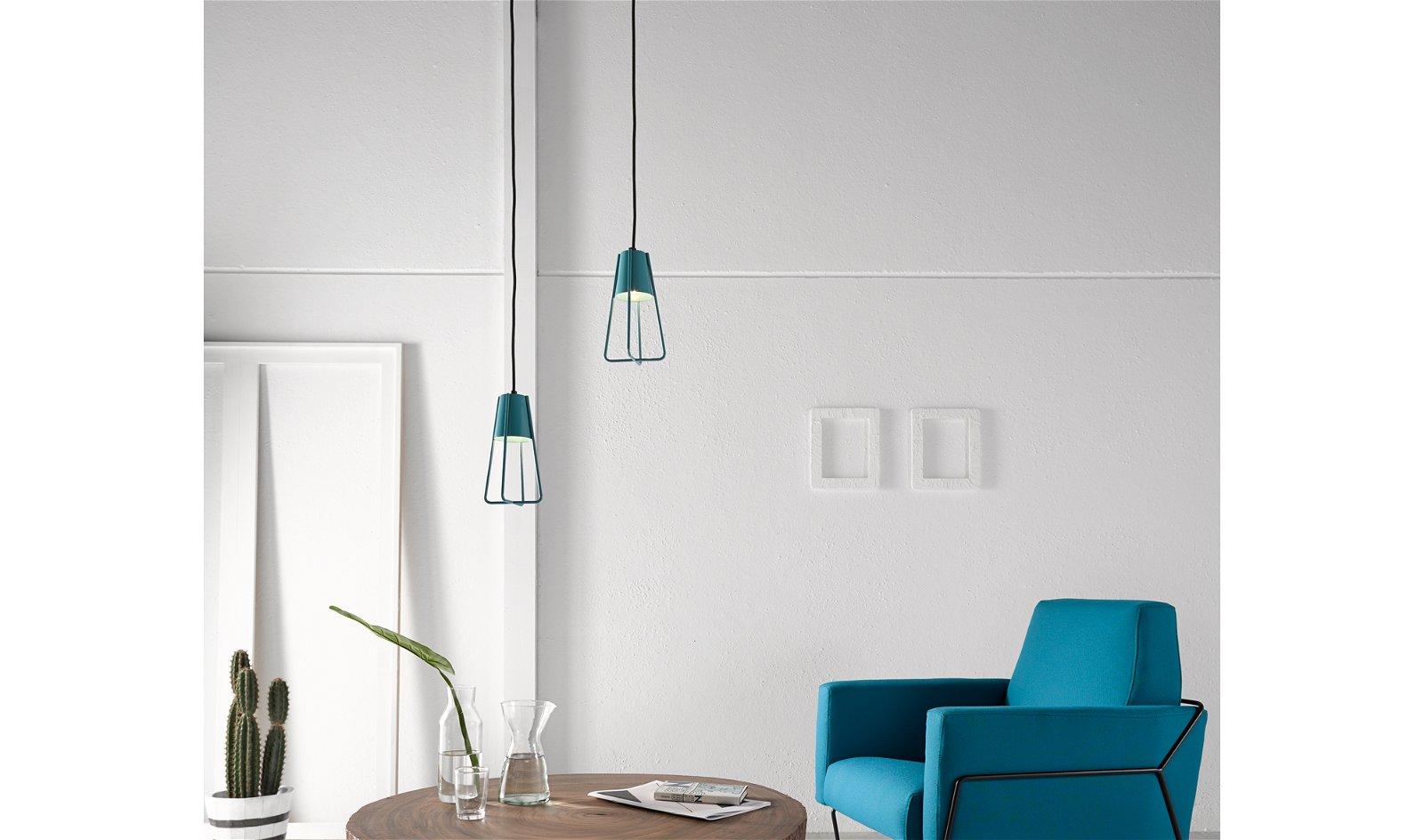 Lámpara de techo azul Gema