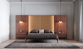 Dormitorio alto tapizado Carezza
