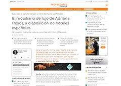 El mobiliario de lujo de Adriana Hoyos, a disposición de hoteles españoles