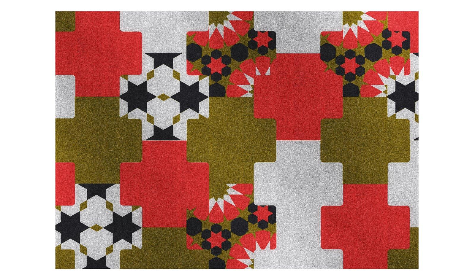 Alfombra de lana Mosaico
